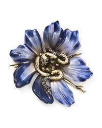 Alexis Bittar   Blue Flower Snake Pin   Lyst