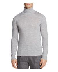 Michael Kors | Gray Merino Wool Turtleneck Sweater for Men | Lyst