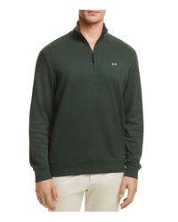 Vineyard Vines - Green Quarter-zip Cotton Sweater for Men - Lyst