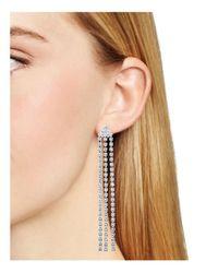 Nadri - Metallic Long Fringe Earrings - Lyst