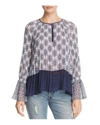Ella Moss - Multicolor Mosaic Pleated Top - Lyst