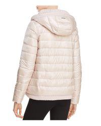 Donna Karan - Pink Reversible Down Jacket - Lyst