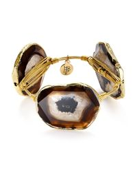 Bourbon and Boweties - Metallic Agate Station Bangle - Lyst