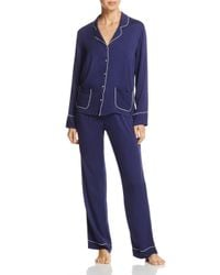 Splendid - Blue Intimates Piped Pajama Set - Lyst