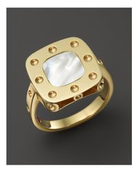 Roberto Coin - Metallic 18k Yellow Gold Pois Moi Mother-of-pearl Ring - Lyst