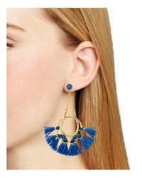 Rebecca Minkoff - Blue Tassel Chandelier Earrings - Lyst