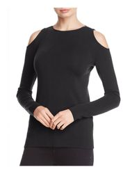 Lafayette 148 New York | Black Cold Shoulder Wool Sweater | Lyst