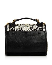 Tory Burch - Black Sawyer Embellished Satchel - Lyst