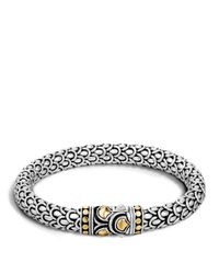 John Hardy | Metallic Sterling Silver And 18k Bonded Gold Naga Medium Chain Bracelet | Lyst