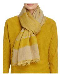 Eileen Fisher - Yellow Stripe Wool Scarf - Lyst