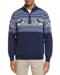 Vineyard Vines - Blue Marlin Pattern Quarter-zip Sweater for Men - Lyst