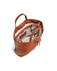 Shinola - Brown Square Leather Tote - Lyst