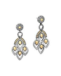"John Hardy | Metallic ""naga"" Gold And Silver Chandelier Earrings 