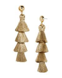 BaubleBar Metallic Luisa Tassel Drop Earrings