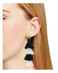 BaubleBar - Black Luisa Tassel Drop Earrings - Lyst