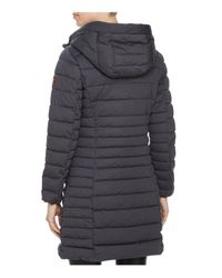 Save The Duck | Gray Packable Quilted Long Puffer Coat | Lyst