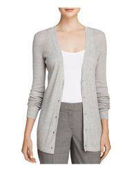 Theory - Gray Sweater - Orhila Cardigan - Lyst