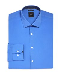 W.r.k. - Blue French Solid Stretch Slim Fit Dress Shirt for Men - Lyst