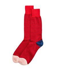 Paul Smith - Red Two Stripe Socks for Men - Lyst