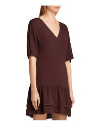 AllSaints - Marley Tiered-hem Dress - Lyst