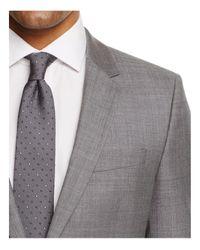 HUGO - Gray Sharkskin Slim Fit Suit for Men - Lyst
