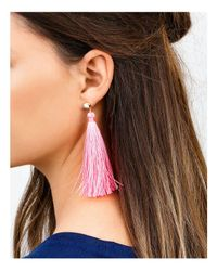 Gorjana | Pink Tulum Gem Tassel Earrings | Lyst