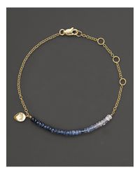 Meira T | Metallic Blue Sapphire And 14k Yellow Gold Bracelet | Lyst