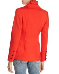 C/meo Collective - Red You Or Me Ruffled Double-breasted Blazer - Lyst
