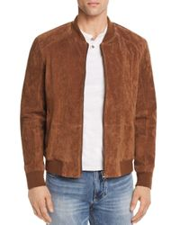 Blank NYC - Brown Suede Bomber Jacket for Men - Lyst