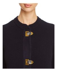 Tory Burch - Blue Rory Sweater Coat - Lyst