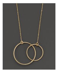 Lana Jewelry | Metallic Lana 14k Yellow Gold Magnetic Double Circle Necklace, 18"