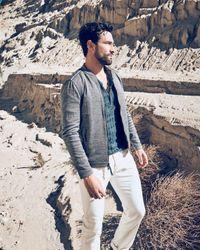 John Varvatos - Blue Ribbed Long Sleeve Henley for Men - Lyst