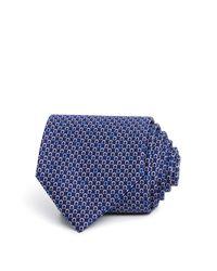 Ferragamo - Blue Micro Gancini Classic Tie for Men - Lyst