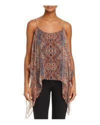 Ella Moss | Natural Casablanca Convertible Cold-shoulder Silk Top | Lyst
