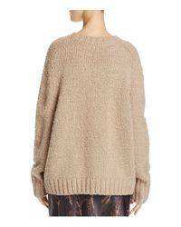 Vince - Natural Bouclé Sweater - Lyst