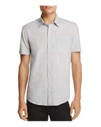 W.r.k. - White Reworked Geometic Regular Fit Button-down Shirt for Men - Lyst
