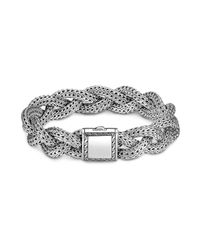 John Hardy - Metallic Classic Chain Sterling Silver Medium Braided Bracelet - Lyst