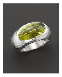 "Roberto Coin | Metallic Fifth Season By Sterling Silver ""capri Plus"" Lemon Quartz Ring 