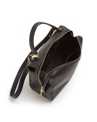 MILLY - Black Astor Large Leather Satchel - Lyst