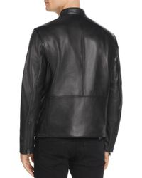 Andrew Marc - Black Gibson Leather Moto Jacket for Men - Lyst