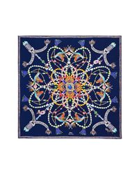 Echo Blue Heirloom Silk Series Square Scarf
