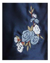 Cami NYC - Blue Devon Floral-embroidered Silk Top - Lyst
