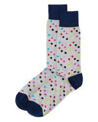 Bloomingdale's - Gray Multi-dot Socks for Men - Lyst