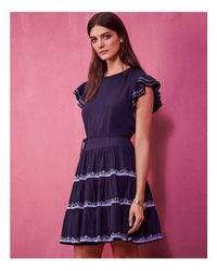 Tory Burch | Blue Caterina Tiered Ruffle Dress | Lyst