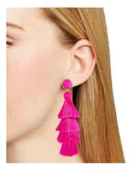 BaubleBar - Pink Gabriela Tiered Tassel Earrings - Lyst