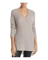 Three Dots - Multicolor Honeycomb High Low Sweater - Lyst
