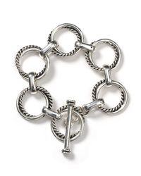 Ralph Lauren - Metallic Lauren Luxury Links Smooth And Twisted Links Bracelet - Lyst