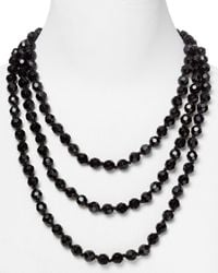 Carolee | Black Faceted Bead Rope Necklace, 72"