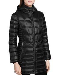 Calvin Klein - Black Packable Down Coat - Lyst