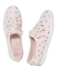 Keds - Pink X Kate Spade New York Women's Canvas Lace Up Sneakers - Lyst